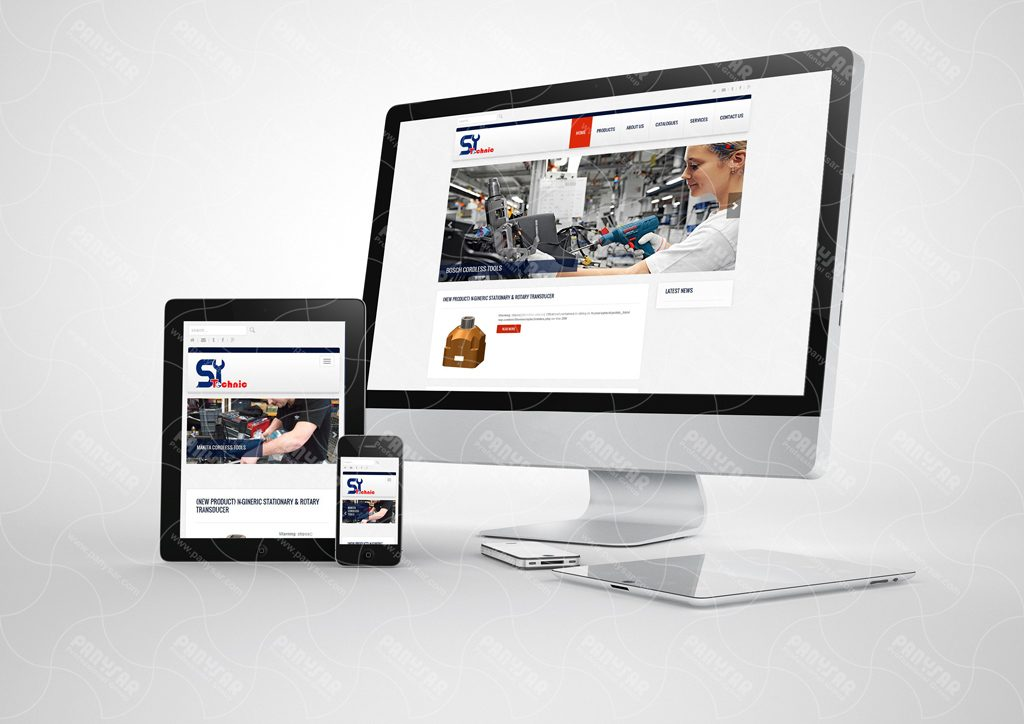 طراحی سایت شرکت صنعت یاران