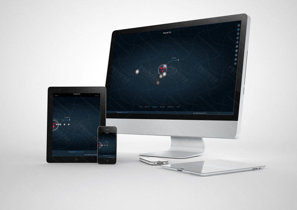طراحی سایت شرکت پارسل