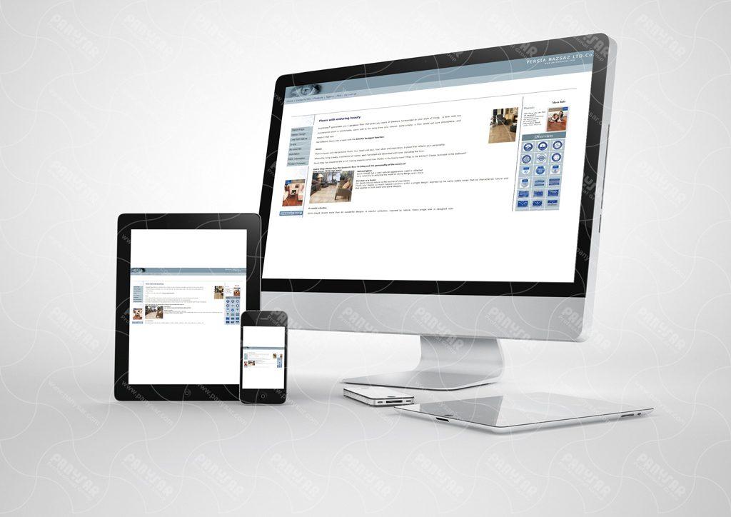 طراحی سایت شرکت پرشیا بازساز