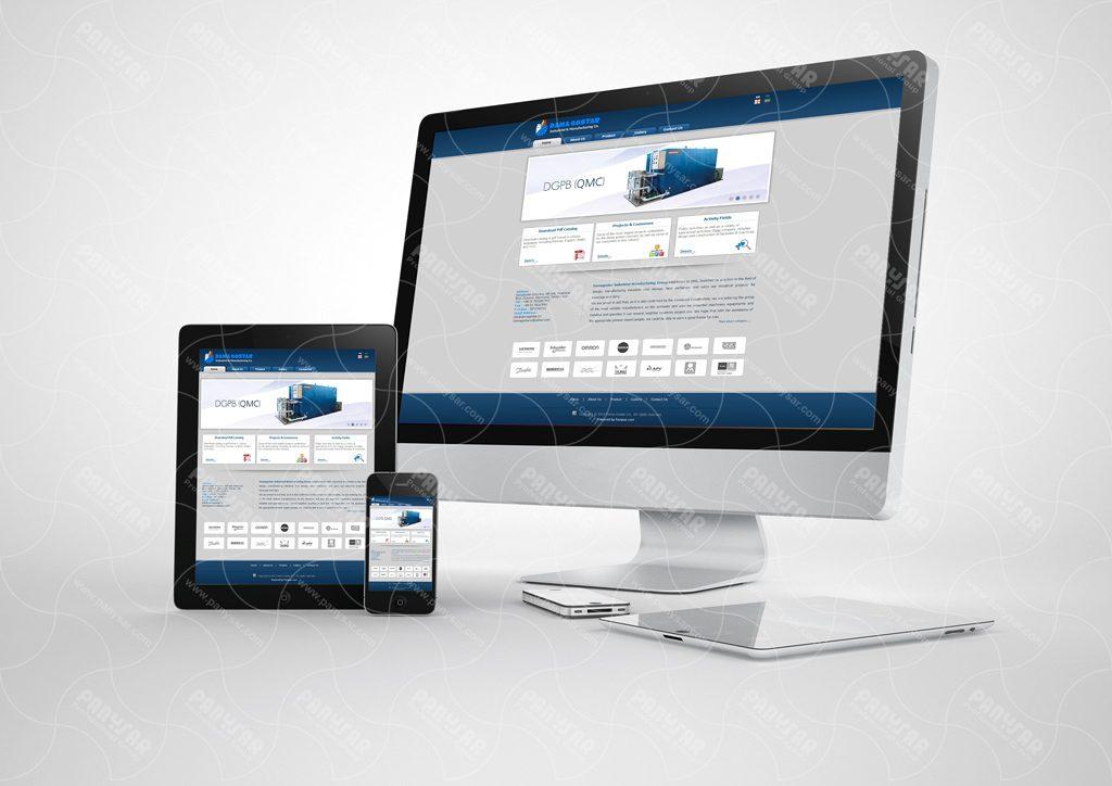 طراحی سایت شرکت دماگستر