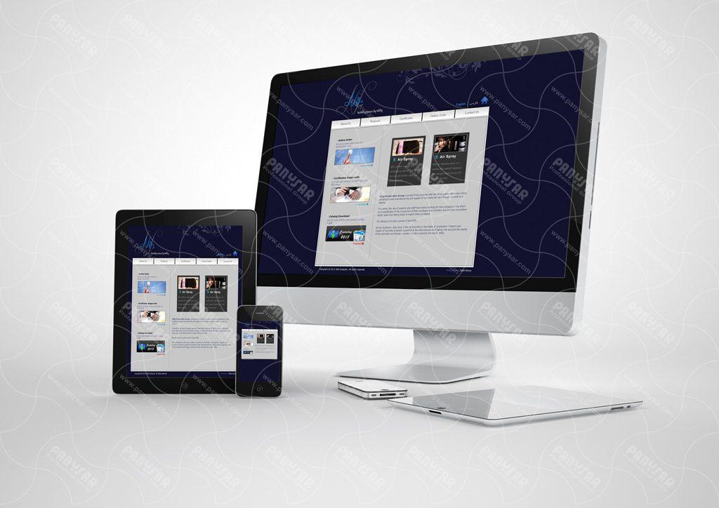 طراحی وب سایت شرکت نیفتی