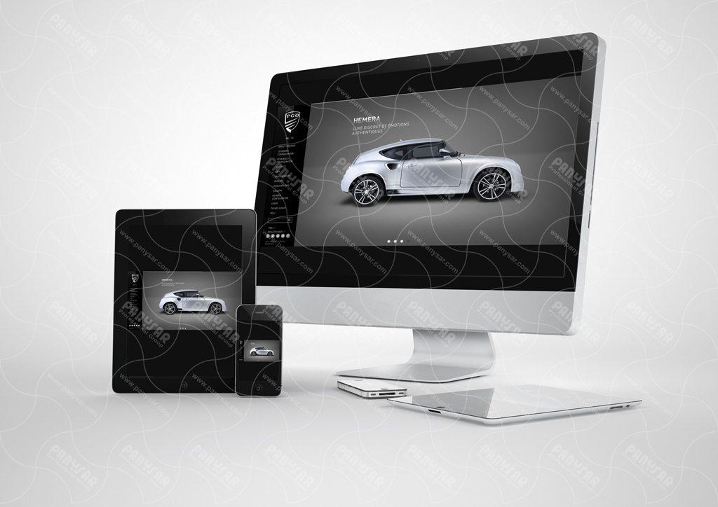 طراحی سایت شرکت PGO
