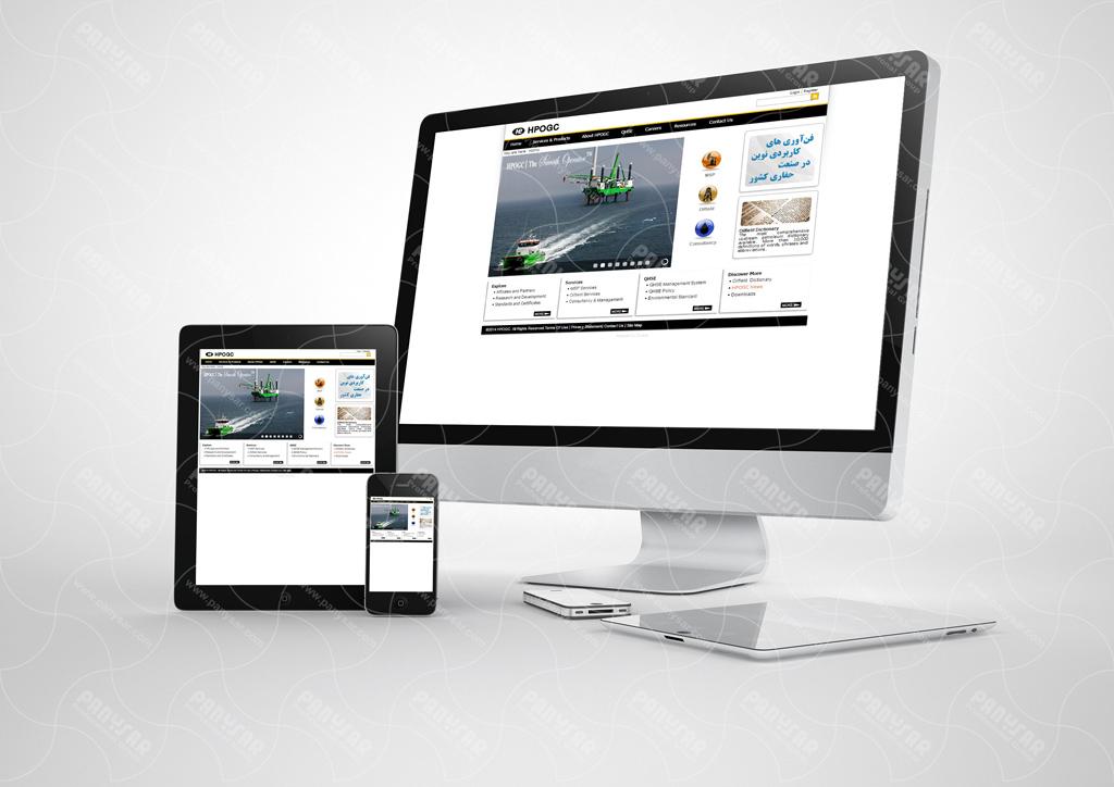 طراحی سایت شرکت همراه پوشش