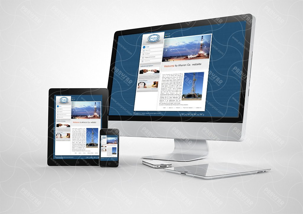 طراحی سایت شرکت آهاران
