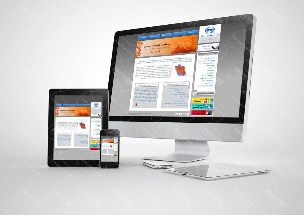 طراحی سایت شرکت سیلیکاژل درخشان