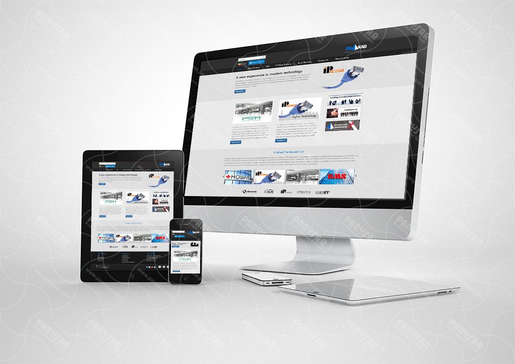 طراحی سایت شرکت چکاد پردازش