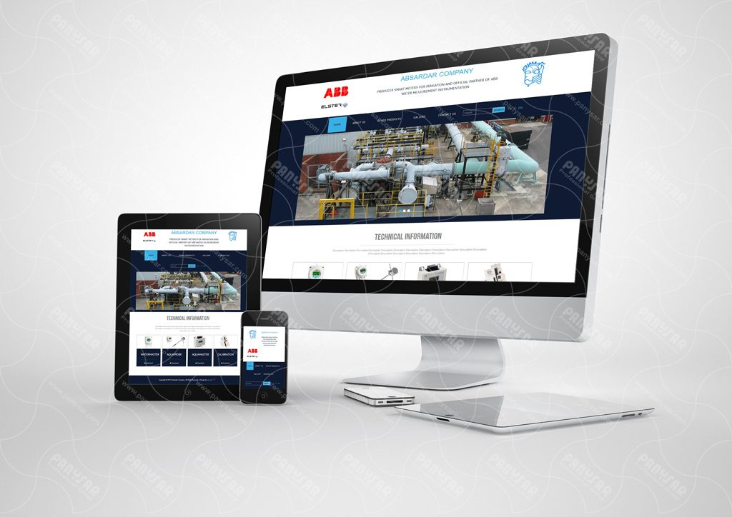 طراحی سایت شرکت آبسردار