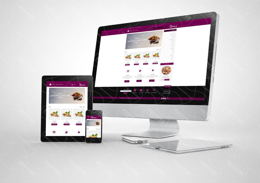 طراحی فروشگاه آنلاین آجیلستان