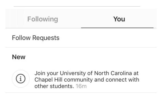 اینستاگرام قابلیت گروه های دانشجویی